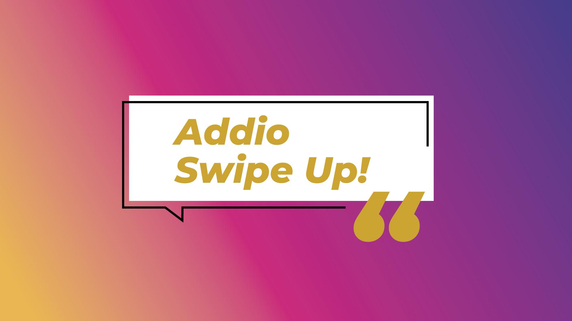 Instagram, addio allo swipe up: arriva il link sticker